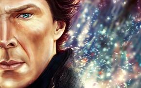Picture art, tear, Sherlock Holmes, Benedict Cumberbatch, Benedict Cumberbatch, Sherlock, Sherlock BBC, Sherlock (TV series), by …