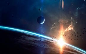 Picture Asteroids, Planet, Blik, Planet, Stars, Space, Space, Nebula, Light, Asteroids, Glare, Planet, Art, Planets, Art, …
