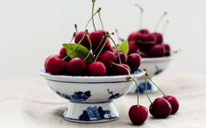 Picture berries, macro, cherry