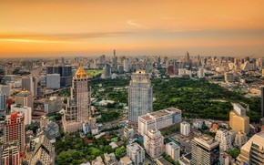 Picture the sky, the city, building, Thailand, Bangkok