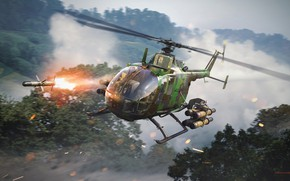 Picture clouds, rocket, helicopter, War Thunder