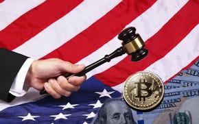 Picture flag, hammer, America, america, flag, bitcoin, bitcoin, hammer