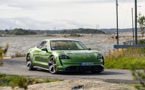 Picture coast, Porsche, Turbo S, 2020, Taycan