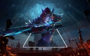 Picture bow, Archer, game, undead, arrows, undead, MMORPG, World of WarCraft, archer, Sylvanas Windrunner, Horde, Horde, …
