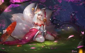 Picture anime, art, little Fox, 小 狐妖, 蒂 琦 丿