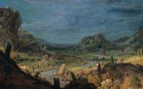 Picture landscape, oil, picture, 1632, Hercules Pieterszoon Seghers, Hercules Segers, The, River valley
