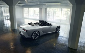 Picture white, light, Lexus, convertible, 2019, LC Convertible Concept