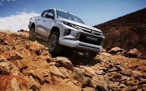Picture stones, the descent, Mitsubishi, pickup, Double Cab, L200, Triton, 2019