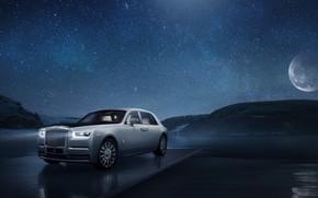 Picture machine, the sky, the moon, stars, Rolls-Royce, Phantom, Tranquillity