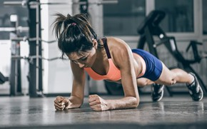 Picture figure, fitness, press, pose, the gym, training, workout, fitness, gym, training, strap, abs, athletic