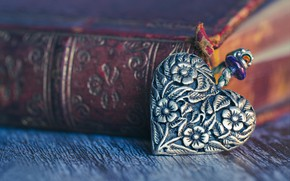 Picture macro, style, book, heart