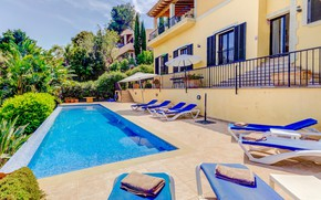 Picture greens, summer, Villa, pool, architecture, terrace, Villa Oronella, Port de Pollenca