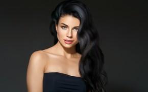 Picture look, girl, face, model, makeup, hairstyle, blue eyes, Beautiful, photoshoot, Ryabusjkina Irina