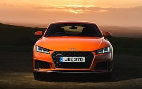 Picture sunset, Audi, Coupe, Quattro, 2018, S-Line, TFSI, Audi TT