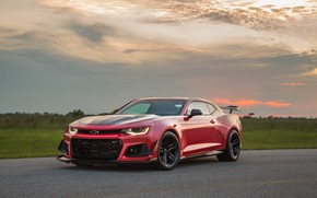 Picture sunset, Chevrolet, Camaro, Hennessey, ZL1, 2017, HPE850