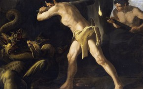 Picture Francisco de Zurbaran, 1634, Cycle of Hercules, The battle of Heracles with the Lernaean Hydra