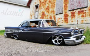 Picture Chevrolet, Car, Bel Air, Grey