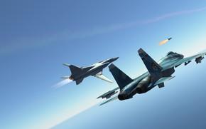 Picture Tupolev, Tu-22M3, Strategic bomber, Support