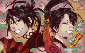 Picture anime, art, guys, Donten ni Warau, Laughing under the clouds