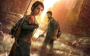 Picture The Last Of Us, Joel, Ellie, the city