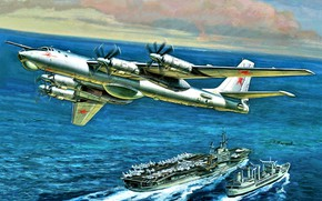 Picture Bomber bomber, The carrier, Tu-95, Strategic bomber, Turboprop, SOVIET AIR FORCE/VIDEOCONFERENCING, Soviet/Russian