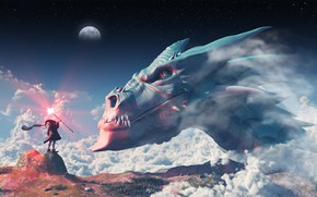 Picture space, dragon, MAG