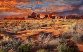 Picture landscape, nature, Monument Valley View