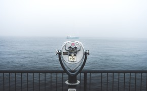 Picture Water, Sea, Fog, Yacht, by AllJos, Viewing Binoculars, AllJos