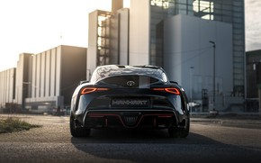 Picture black, coupe, shadow, Toyota, rear view, Supra, the fifth generation, mk5, Manhart, double, 2020, GR …