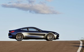 Picture the sky, asphalt, clouds, coupe, BMW, 2017, 8-Series Concept
