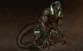 Picture fantasy, art, The Tiger-monster, Naranbaatar Ganbold