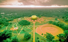 Picture India, panorama, Auroville