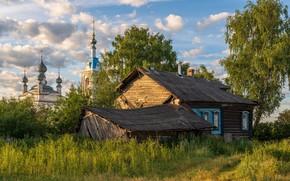 Picture hut, Yaroslavl oblast, Russian village, Savinskaya, Andrey Gubanov