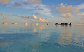 Picture stay, boat, Paradise, The Maldives, Bungalow, The Indian ocean