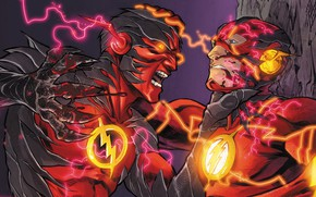 Picture zipper, battle, fight, flash, DC Comics, flash, Barry Allen, speedforce, reverse flash, reverse-flash, reverse flash, …