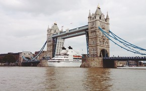 Picture water, bridge, river, England, London, London, England, cruise
