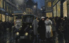 Picture Danish painter, Danish painter, Paul Gustav Fischer, Paul Gustav Fischer, Evening walk along the Boulevard, …