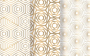 Picture abstraction, background, geometry, Gold