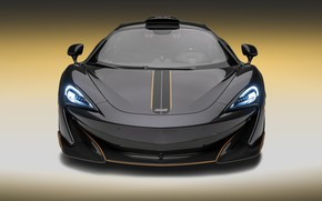 Picture McLaren, supercar, front view, 2018, MSO, 600LT, Stealth Grey