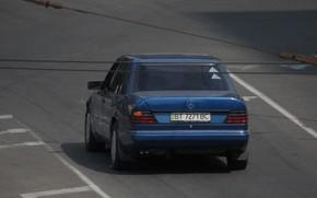 Picture road, city, the city, mercedes, Mercedes, road, blue car
