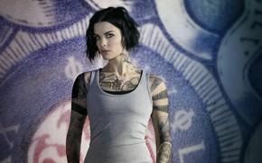 Picture look, pose, tattoo, the series, Jaimie Alexander, Jamie Alexander, Blindspot, Blind spot, Jane DOE, Ellis …