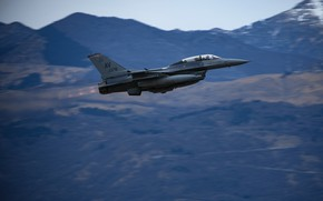Picture UNITED STATES AIR FORCE, American multifunctional lightweight, the fourth generation fighter, General Dynamics F-16 Fighting …