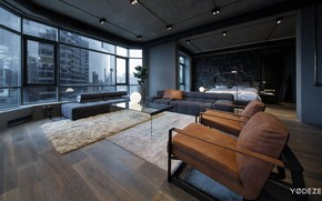 Picture design, style, interior, bedroom, living room, Open-minded Apartment in Kiev, by YoDezeen