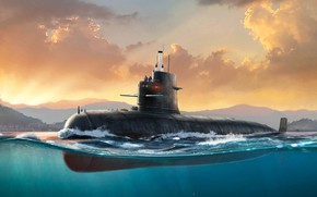 Picture China, submarine, PLA Navy Type 039 Song Class