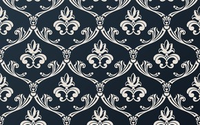 Picture white, blue, retro, background, pattern, vintage