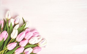 Picture flowers, bouquet, tulips, pink, pink, flowers, beautiful, romantic, tulips, spring