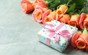 Picture gift, roses, congratulations