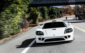 Picture White, Road, Supercar, Saleen S7