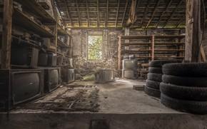 Picture tires, composition, TV