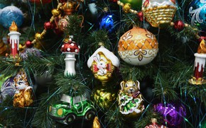 Picture toys, Tree, decoration